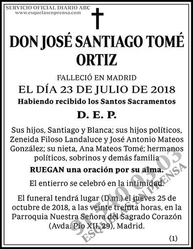 José Santiago Tomé Ortiz